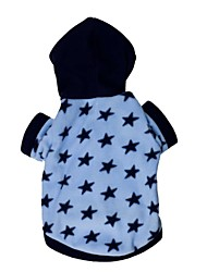cheap -Cat Dog Hoodie Winter Dog Clothes Blue Costume Terylene Stars XS S M L