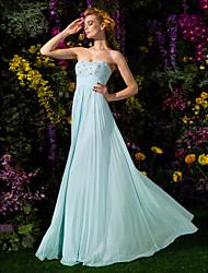 cheap -Sheath / Column Sparkle & Shine Formal Evening Dress Sweetheart Neckline Sleeveless Floor Length Chiffon with Criss Cross Beading Draping 2021