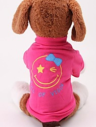 cheap -Dog Sweater Hoodie Winter Dog Clothes Green Red Costume Terylene Cotton Simple Style Cute S M L