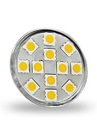 cheap -1.5 W LED Spotlight 130-150 lm GU4 MR11 12 LED Beads SMD 5050 Decorative Warm White 12 V / RoHS