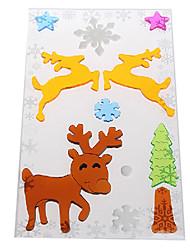 Недорогие -олени двери / окна / стены наклейки рождественские украшения