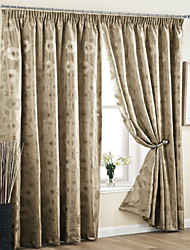 cheap -Two Panels Curtain Country Neoclassical European Modern Jacquard For Living Room