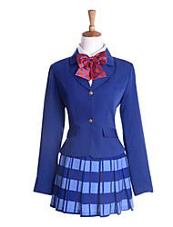 cheap -Inspired by Love Live Honoka Kōsaka Anime Cosplay Costumes Japanese Cosplay Suits Dresses Long Sleeve Coat Shirt Skirt For Women's