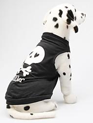 cheap -Cat Dog Shirt / T-Shirt Dog Clothes Black Blue / Yellow Wine Costume Cotton Heart Skull XS S M L