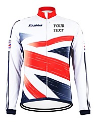 cheap -Customized Cycling Clothing Men's Women's Long Sleeve Cycling Jersey British National Flag Bike Jersey Breathable Waterproof Zipper Reflective Strips Polyester / High Elasticity / Mountain Bike MTB
