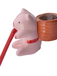 cheap -NEJE Self Watering Animal Plant Planters - Pig (Clover)