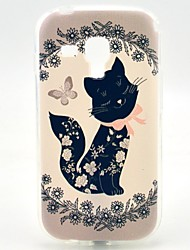 cheap -Case For Samsung Galaxy Trend Duos Pattern Back Cover Cat TPU