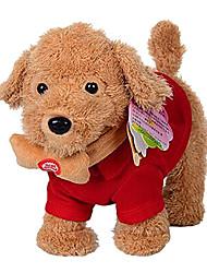 Недорогие -танцевать и ходить с музыкой плюшевые игрушки собаки с поводка игрушек