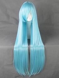 cheap -SAO Alicization Asuna Yuuki Cosplay Wigs Women's 40 inch Heat Resistant Fiber Blue Anime