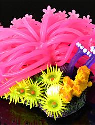 Недорогие -резиновые искусственные мягкие кораллы украшения для аквариума аквариум