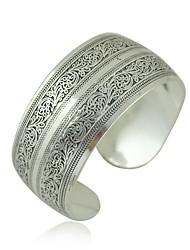 cheap -Women's Cuff Bracelet Ladies Asian Italian Alloy Bracelet Jewelry Silver For Wedding Party Daily Casual