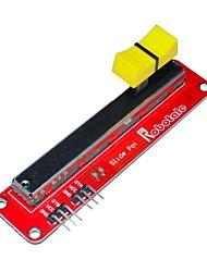 Недорогие -fr4 + алюминиевый сплав электронного слайд-модуль для Arduino Потенциометр - красный + черный + желтый