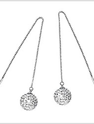 cheap -Women's Drop Earrings Classic Long Star Ladies Sterling Silver Rhinestone Earrings Jewelry Silver For Wedding Party Daily Casual