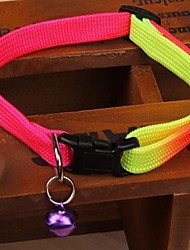 abordables -Chat Chien Colliers Manches Pagode Rayure Nylon