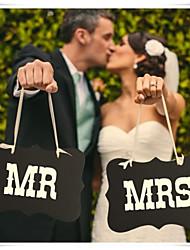 Недорогие -Реквизит для фотографии Плотная бумага / Смешанные материалы Свадебные украшения Свадебные прием Классика Весна / Лето / Осень