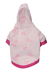 cheap -Cat Dog Hoodie Cartoon Dog Clothes Puppy Clothes Dog Outfits Breathable Pink Costume Baby Small Dog for Girl and Boy Dog Cotton XS S M L
