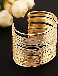 cheap -Women's Bracelet Bangles Cuff Bracelet Ladies Stainless Steel Bracelet Jewelry Golden / Silver For Wedding Party Daily Casual / Silver Plated / Platinum Plated