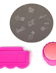 cheap -3 pcs Nail Art Kit Template Lovely nail art Manicure Pedicure Fruit / Flower / Abstract Daily / Cartoon / Plastic / Metal