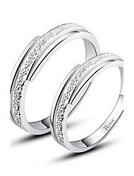 cheap -Women's Couple's Statement Ring Ring Silver Fashion Daily Jewelry