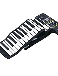 cheap -88 Key Electronic Piano Keyboard Silicon Flexible Roll up Piano with Loud Speaker / Foot Pedal