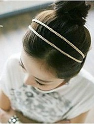 cheap -Women's Casual / Daily Fashion Elegant Fabric Plastic Headbands Wedding Party