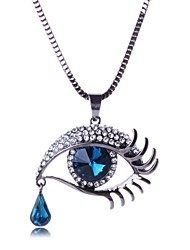 cheap -Crystal Pendant Necklace Ladies Party Vintage Gemstone & Crystal Rhinestone Alloy Black Blue Necklace Jewelry For