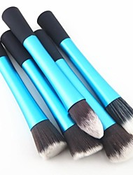 cheap -5pcs-colorful-nylon-hair-aluminium-handle-makeup-blusher-foundation-powder-brush-set-assorted-color