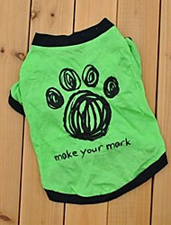 cheap -Cat / Dog Shirt / T-Shirt Dog Clothes Green Cotton Costume For Pets Cosplay / Wedding