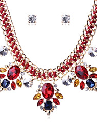 cheap -Women's Europe All Match Crystal Eyes Necklace