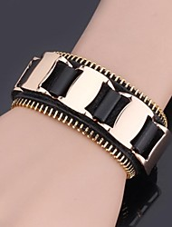 cheap -Men's Vintage Party Work Casual Leather 18K Gold Plated Bracelet Jewelry Black / Brown For