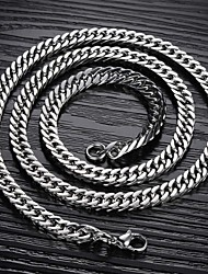 cheap -Men's Chain Necklace Foxtail chain Mariner Chain Titanium Steel A B C Necklace Jewelry For Christmas Gifts Wedding Party Daily Casual Sports