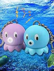 cheap -Lovely Baby Octopus LED Sound Keychain(Purple&Blue)