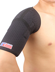 cheap -SHUOXIN Shoulder Brace / Shoulder Support for Yoga Gym Workout Outdoor Nylon Lycra Spandex 1pc Sport Outdoor clothing Black