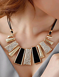 cheap -Women's Statement Necklace Ladies European Fashion Rhinestone Imitation Diamond Alloy Black Necklace Jewelry For Party Daily Casual