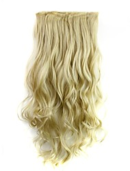 cheap -Human Hair Extensions Curly Classic Hair Extension Clip In / On Blonde Daily