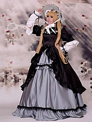 cheap -Inspired by GOSICK Victorique De Blois Anime Cosplay Costumes Japanese Cosplay Suits Patchwork Long Sleeve Dress / Hat For Women's / Satin