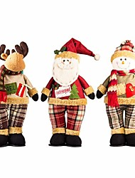 cheap -Exquisite Handmade Christmas Santa Snowman Reindeer Standing Doll Christmas Gift
