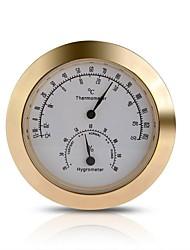 Недорогие -круглый термометр гигрометр металл для гитары скрипки корпусных деталей золотые тона