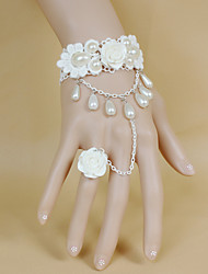 cheap -Wedding Flowers Bouquets / Wrist Corsages / Others Wedding / Party / Evening Material / Bead / Lace 0-20cm
