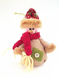cheap -Cotton and Linen Snowman Small Doll Style Restoring Ancient Ways