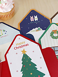 cheap -Lovely Stripe Style Christmas Card(5PCS)