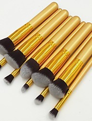 cheap -10pcs-all-gold-professional-makeup-set-kits-brushes-kabuki-makeup-cosmetics-brush-tool