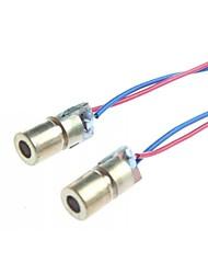 Недорогие -6мм 5V 5 мВт модуль лазерного диода точка глава WL красный 650nm (2 шт)