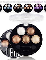 cheap -6 Colors Eyeshadow Palette Powders Matte Shimmer Eye Matte Shimmer Glitter Shine smoky Daily Makeup Smokey Makeup Cosmetic Gift