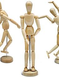 """Недорогие -30cm / 12 """"гибкий 14-совместное подвижный деревянный манекен фигура куклы Настольная подставка игрушка для домашнего офиса"""