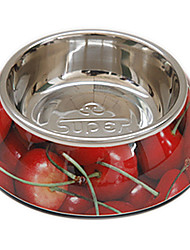 cheap -Cherry Pattern Food Bowl for Pets Dogs