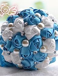 abordables -Fleurs de mariage Bouquets Mariage Dentelle / Strass / Polyester 30cm
