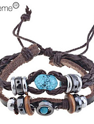 cheap -Women's Charm Leather Bracelet Jewelry Brown For Party Special Occasion Birthday Gift Daily Casual
