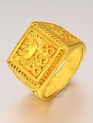 cheap -Men's Statement Ring Signet Ring Gold Plated 24K Gold Plated Fashion Christmas Gifts Wedding Jewelry
