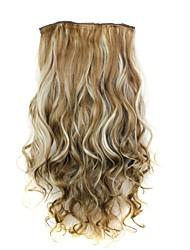 Недорогие -Кудрявый Классика Искусственные волосы 22 дюймы Наращивание волос Клип во / на Жен. Повседневные